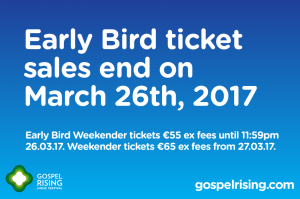 Early bird ends March 26th 2017