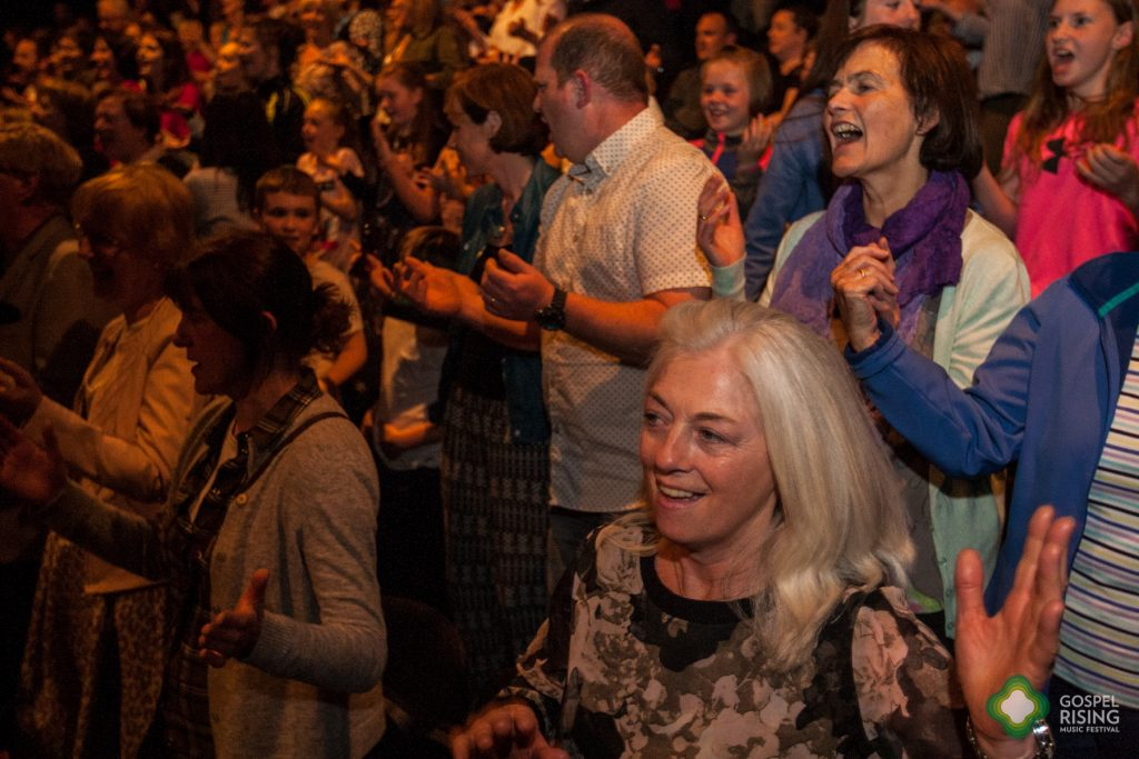 Happy crowd at the Saturday night gig